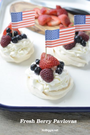 Fresh Berry Mini Pavlovas