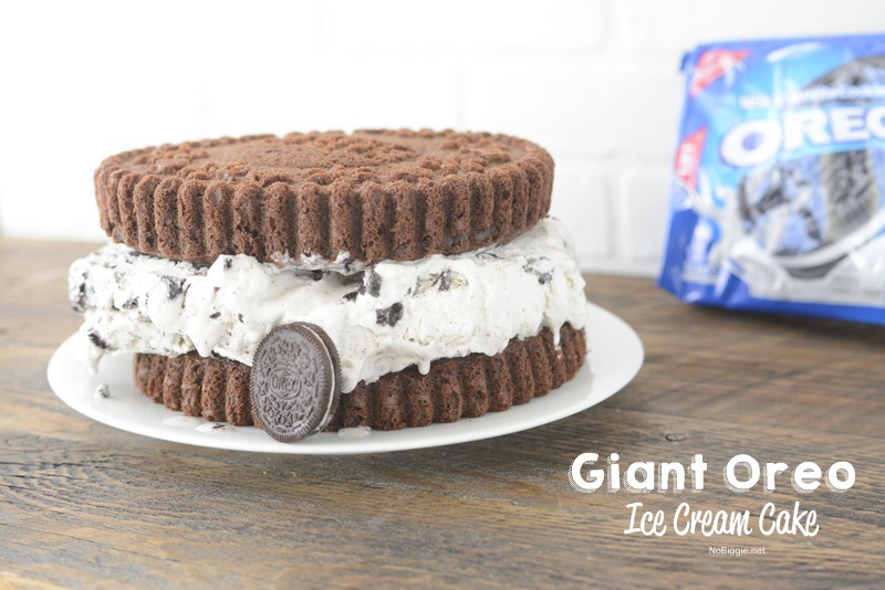 Giant Oreo Cookie Ice Cream Cake NoBiggie