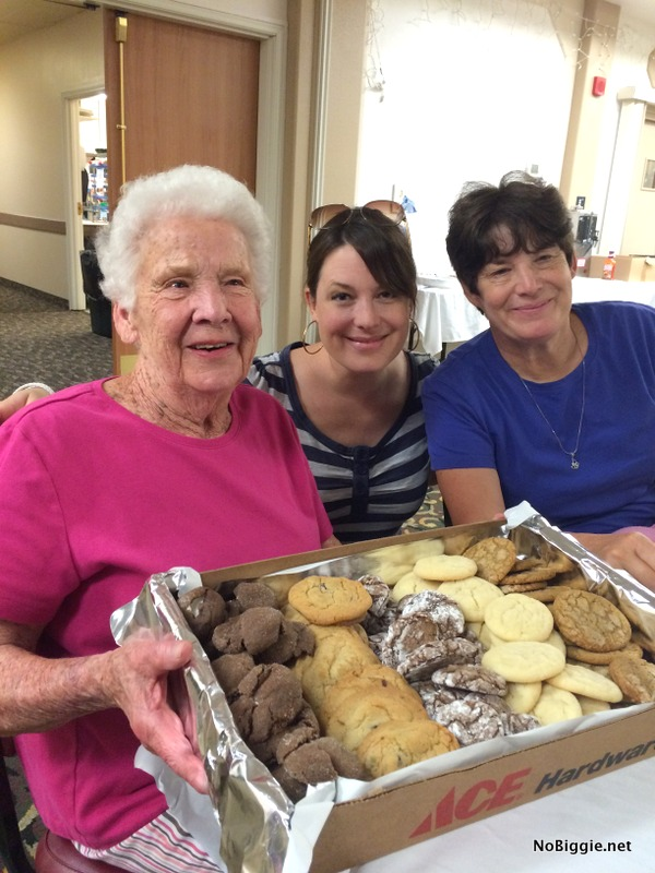 Grandma Kae with cookies | NoBiggie.net