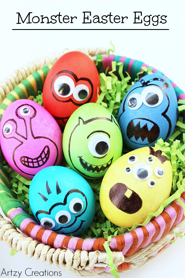 Monster Eggs | 25+ MORE ways to decorate Easter Eggs