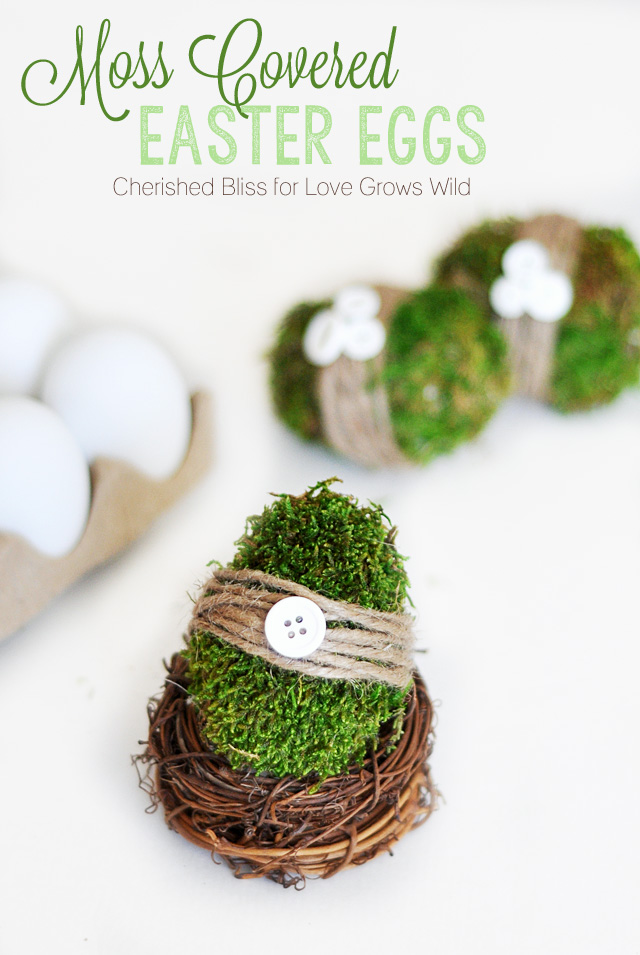 Moss Covered Eggs | 25+ MORE ways to decorate Easter Eggs