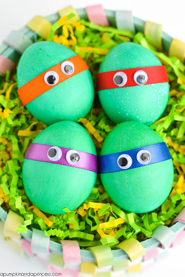 Ninja Turtle Eggs | 25+ MORE ways to decorate Easter Eggs