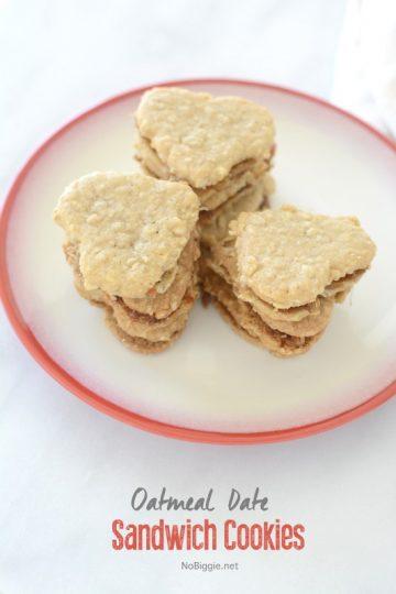 Oatmeal Date Sandwich Cookies