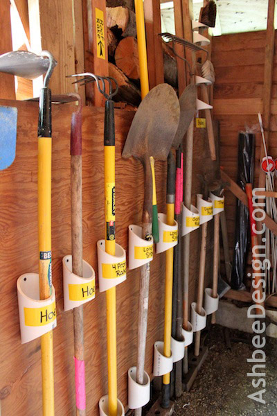 Organizing Garden Tools with PVC | 25+ things to make with PVC Pipeith PVC