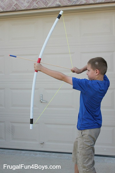 PVC Pipe Bow and Arrows | 25+ things to make with PVC Pipe
