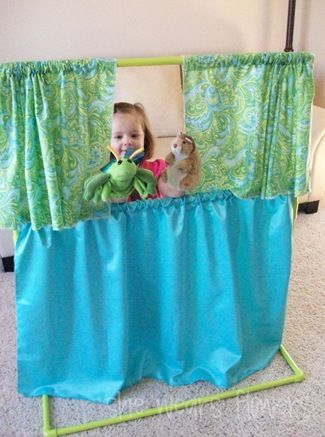PVC Pipe Puppet Theater | 25+ things to make with PVC Pipe