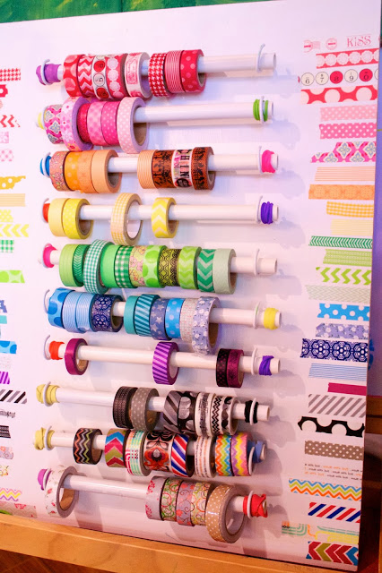 Washi Tape Holder | 25+ things to make with PVC Pipe