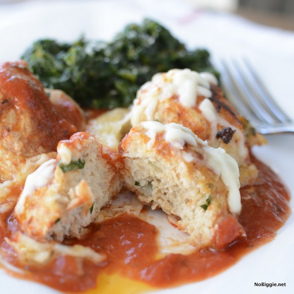 chicken parmesan meatballs for dinner | NoBiggie.net