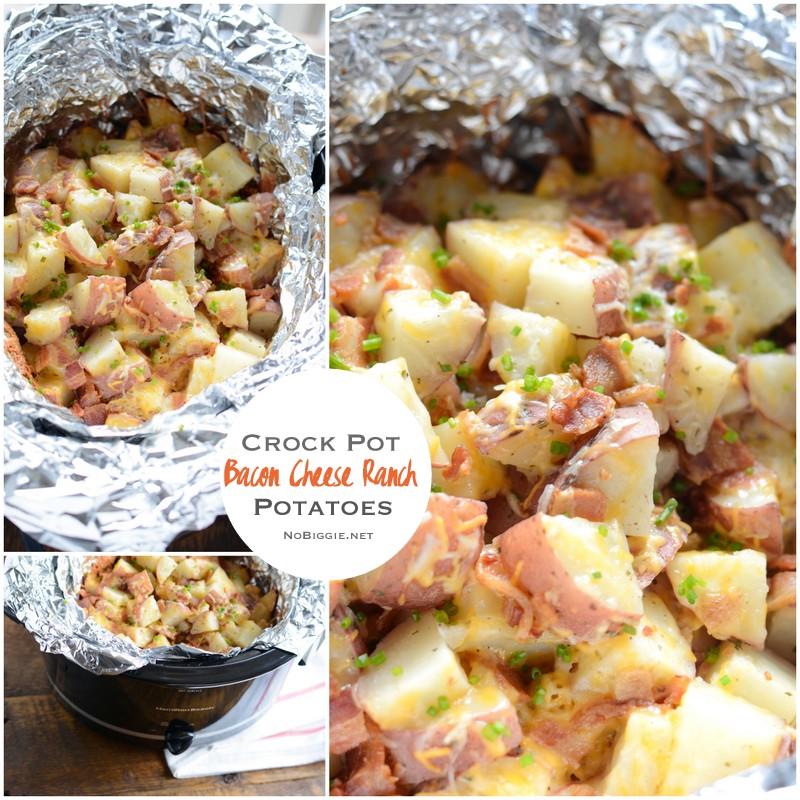 crock pot bacon ranch cheese potatoes | NoBiggie.net