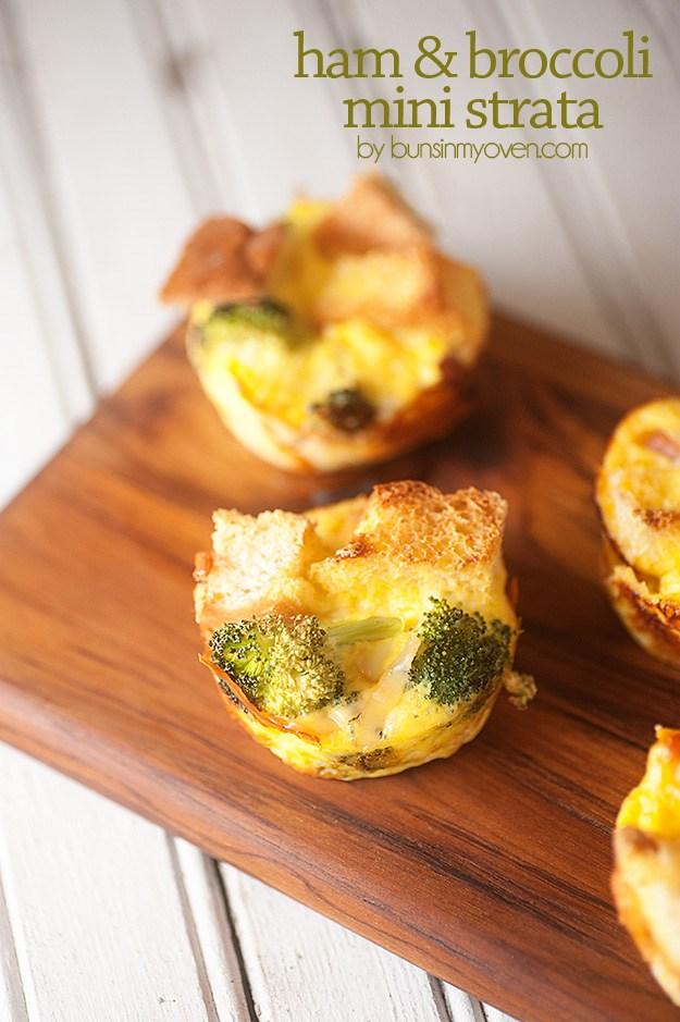ham and broccoli strata | 25+ Muffin tin recipes for kids