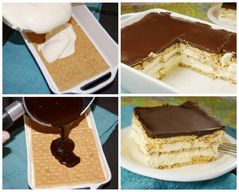 No Bake Chocolate Eclair Cake Tasty