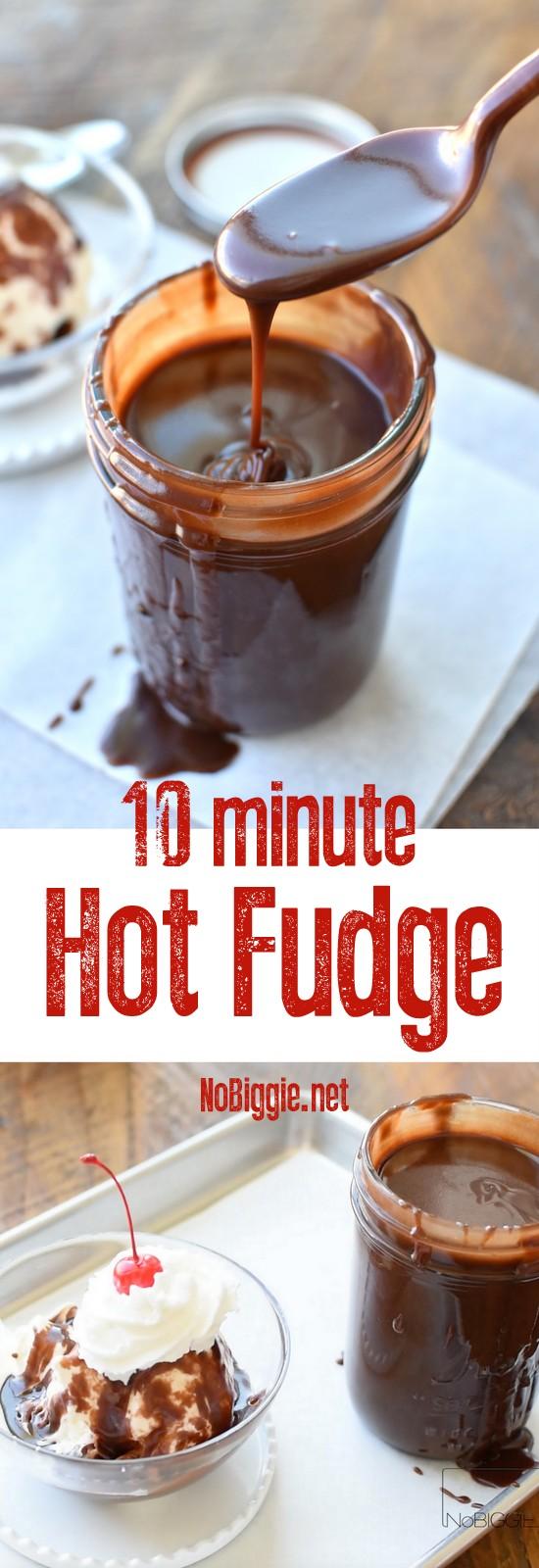 10 Minute Homemade Hot Fudge | NoBiggie.net