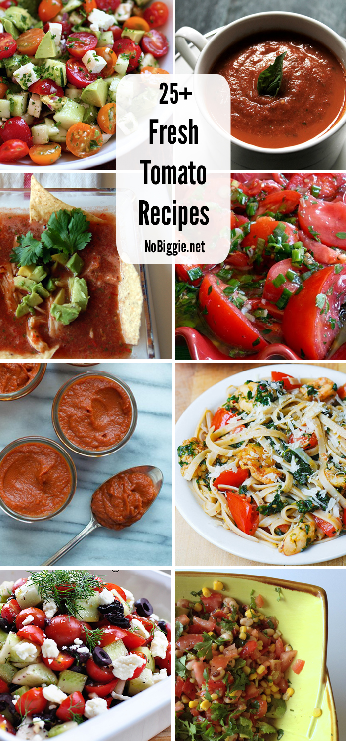 25+ Fresh Tomato Recipes | NoBiggie.net