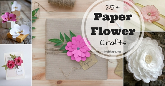 25 Paper Flower Crafts Nobiggie