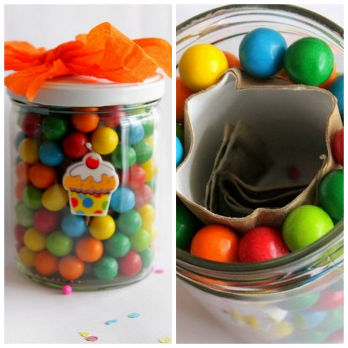 Bubble Gum Money Jar | 25+ ways to give a money gift