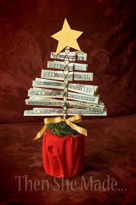 Cash Christmas Tree | 25+ Creative Ways to Give Money