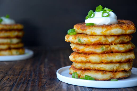 Cheesy Mashed Potato Pancakes | 25+ Potato Side Dishes