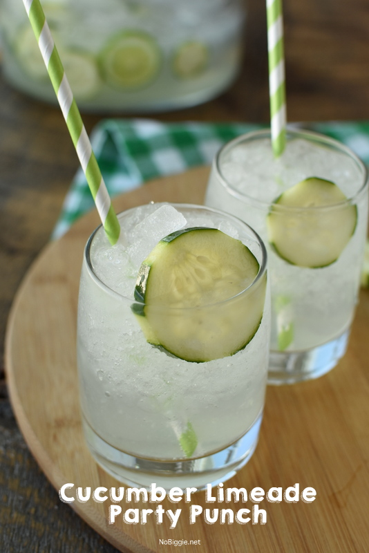 Cucumber Limeade party punch | NoBiggie.net