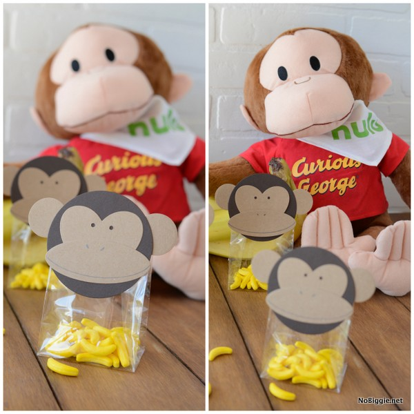 Curious George treat bag toppers | NoBiggie.net