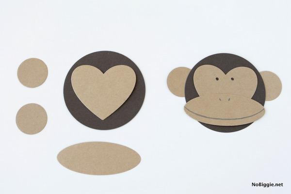 DIY paper monkey face | NoBiggie.net
