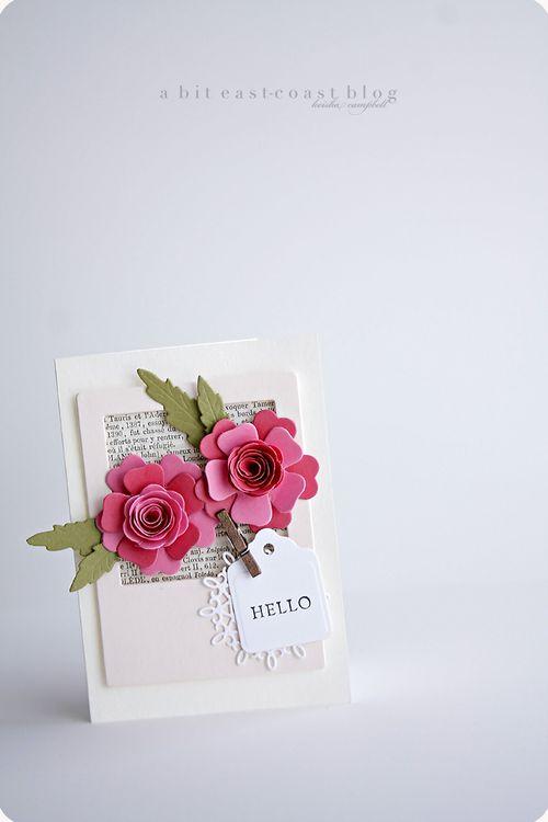 Feeling Spring card | 25+ Paper Flower Crafts