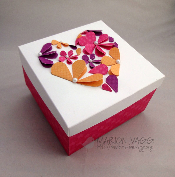 Flower Petal and Pearl Heart Gift Box | 25+ Paper Flower Crafts