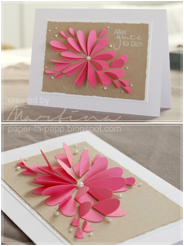 25 paper flower crafts nobiggie flower petal and pearl card 25 paper flower crafts mightylinksfo Images