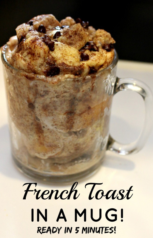 French Toast in a Mug | 25+ Quick/On The Go Breakfast Ideas
