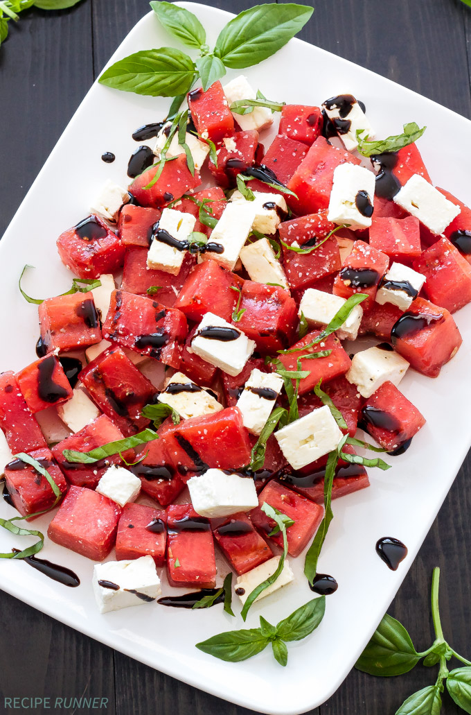 Grilled Watermelon, Feta, and Basil Salad | 25+ Watermelon recipes