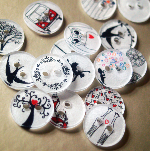 How to Make Clothing Buttons from Shrink Plastic | 25+ Shrinky Dink Crafts