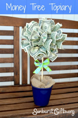 Money Tree Topiary | 25+ Creative Ways to Give Money