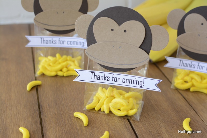 DIY Monkey Party Favors NoBiggie