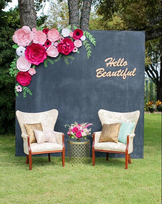 Paper Flower backdrop | 25+ Paper Flower Crafts