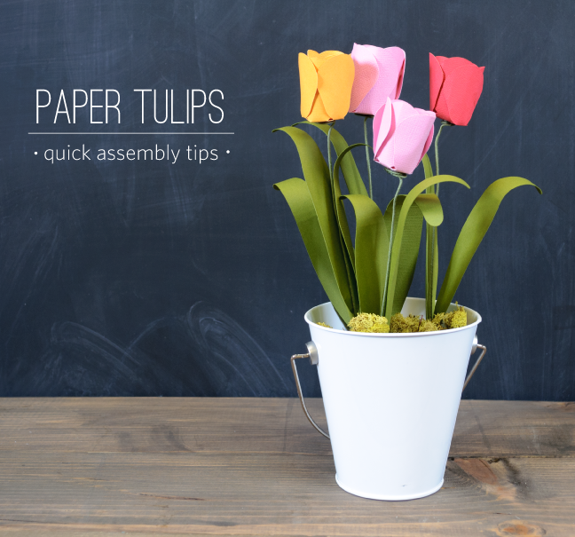 Paper Tulips | 25+ Paper Flower Crafts