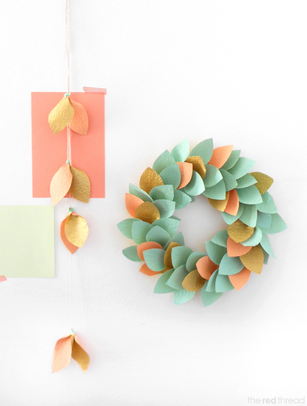 Paper Wreath Tutorial | 25+ Paper Flower Crafts
