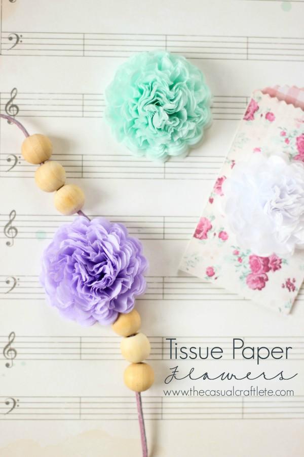Tissue Paper Flowers | 25+ Paper Flower Crafts