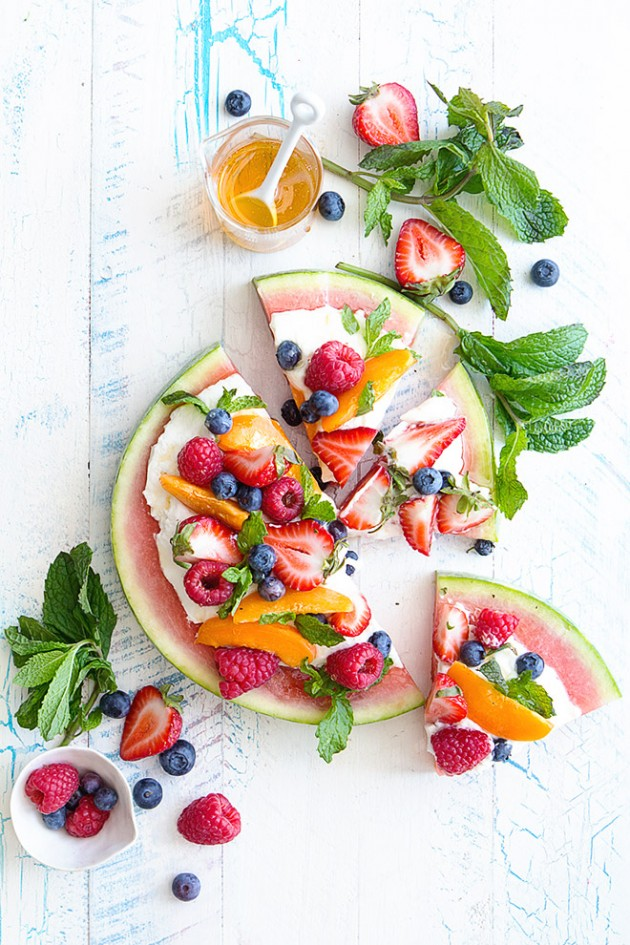 Watermelon Fruit Pizza | 25+ Watermelon recipes