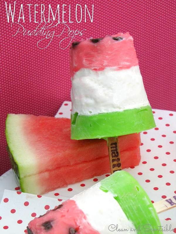 Watermelon Pudding Pops | 25+ Watermelon recipes