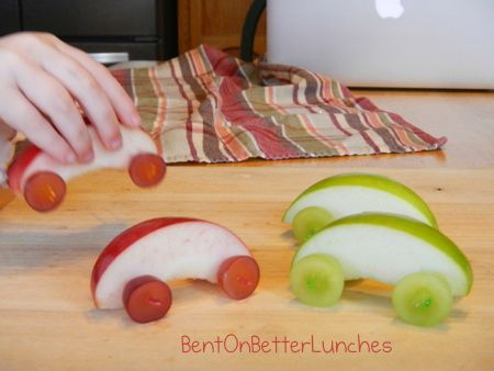 apple cars | 25+ Cute & Healthy Snacks