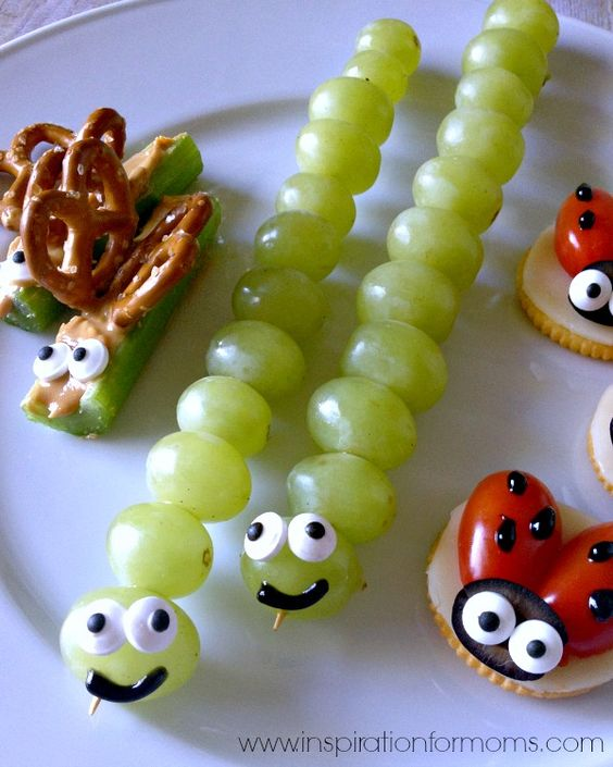 back yard bugs | 25+ Cute & Healthy Snacks