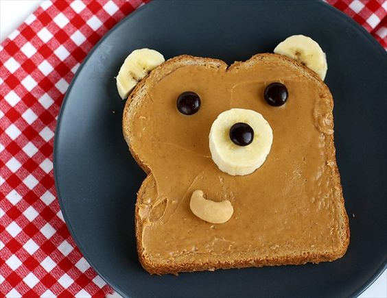bear toast | 25+ Cute & Healthy Snacks