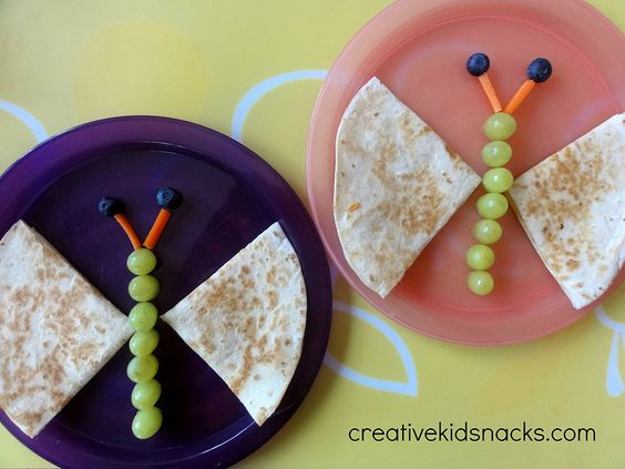 butterfly quesadilla | 25+ Cute & Healthy Snacks