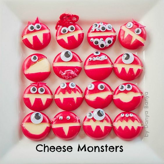 cheese monsters | 25+ Cute & Healthy Snacks