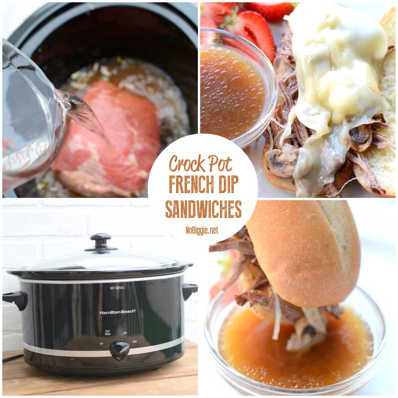 easy crock pot french dip sandwiches | NoBiggie.net