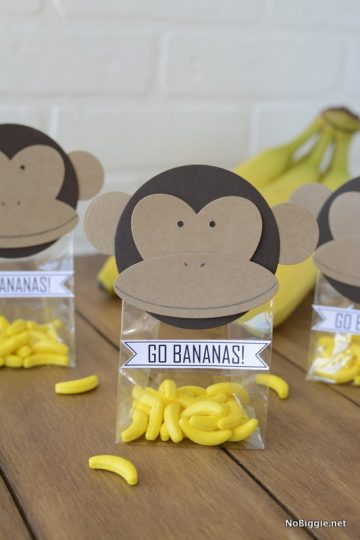 DIY Monkey Party favors