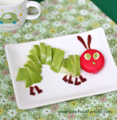 hungry caterpillar | 25+ Cute & Healthy Snacks