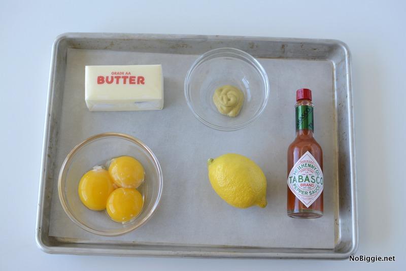 ingredients for blender hollandaise sauce | NoBiggie.net
