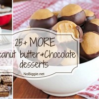 25+ MORE Peanut butter and Chocolate desserts