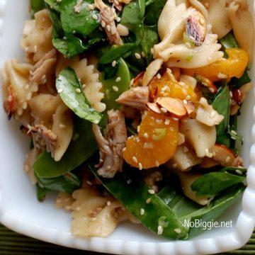 Asian Chicken Pasta Salad | 25+ Spinach Recipes