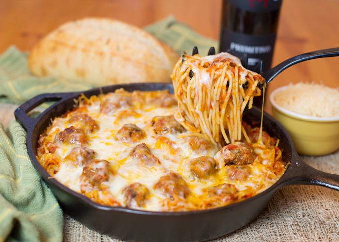 Baked Spaghetti & Meatballs | 25+ Pasta Recipes